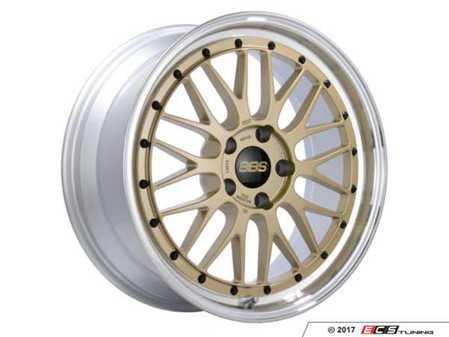"ES#3514314 - lm278gpkKT - 19"" Style LM 278 Wheels - Square Set Of Four - 19x8.5 5x120 ET32 PFS. Gold Center with a diamond cut lip. - BBS - BMW"