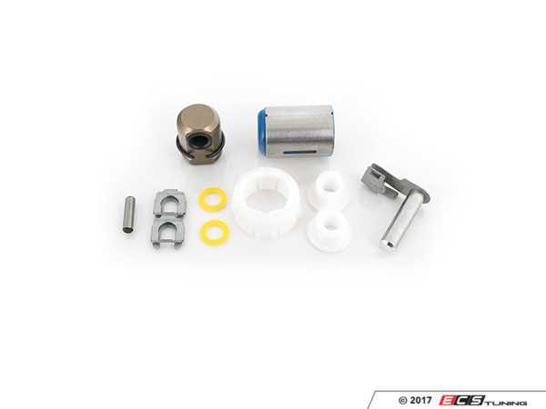 ES#2594074 - 25111221849KT - Shifter Rebuild & Upgrade Kit - Overhaul your shifter with this kit, featuring ECS Tuning teflon shifter bushings & Turner Motorsport poly shift arm bushing - Assembled By ECS - BMW