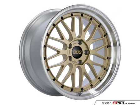 "ES#3514501 - lm280gpkKT - 19"" Style LM 280 Wheels - Square Set Of Four - 19x9.5 5x120 ET32 PSF. Gold Center with a polished lip. - BBS - BMW"