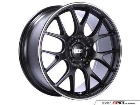 "ES#3514520 - ch100bpoKT - 20"" Style CHR 100 Wheels - Square Set Of Four - 20x9 5x120 ET24 PFS in Satin Black with a polished rim protector. - BBS - BMW"