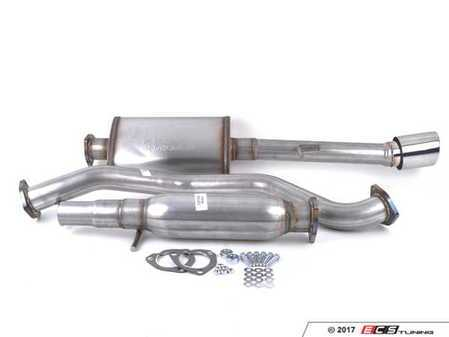 "ES#3081414 - 8943429 - 2.5"" Cat-Back Exhaust System - Aluminized Steel  - 2.5"" aluminized steel with single 4"" polished stainless tip - 42 Draft Designs - Volkswagen"