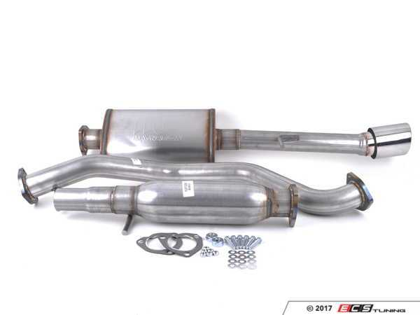 """ES#3081414 - 8943429 - 2.5"""" Cat-Back Exhaust System - Aluminized Steel  - 2.5"""" aluminized steel with single 4"""" polished stainless tip - 42 Draft Designs - Volkswagen"""
