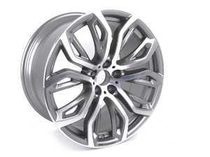 "ES#3514940 - 36116796151sd - 21"" Rear Style 375 Alloy Wheel - Priced Each *Scratch And Dent* - Factory BMW alloy wheel - 21X11.5 ET38 72.6CB - Genuine BMW - BMW"
