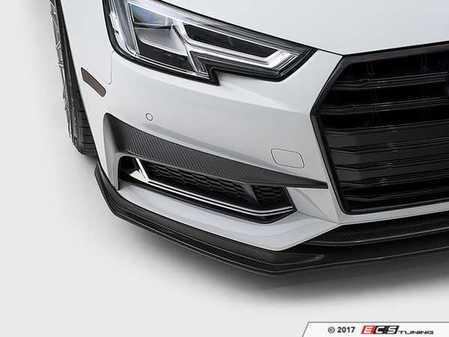 ES#3420220 - 024314ECS01 - Carbon Fiber Grille Accent Set  - Hand-laid carbon fiber to upgrade your exterior styling - ECS - Audi
