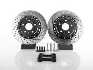 ES#3478537 - 020813ECS01-02KT -  Rear Big Brake Kit - 320x10mm - Bolt on bigger rear brakes for more neutral braking bias and substantial performance! - ECS - Audi Volkswagen