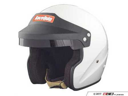 ES#3521908 - RQ0F15W - OF15 Open Face Helmets - White - Keep your face and mouth uncovered for greater comfort and to easily speak to a navigator or passenger. - Racequip - Audi BMW Volkswagen Mercedes Benz MINI Porsche