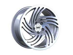"""ES#3419915 - sb85.118stKT - 18"""" SB10 - Set Of Four - 18""""x8.5"""" ET35 / 18""""x9.5"""" ET35 5x100 - Machined/Silver - WatercooledIND - Audi Volkswagen"""