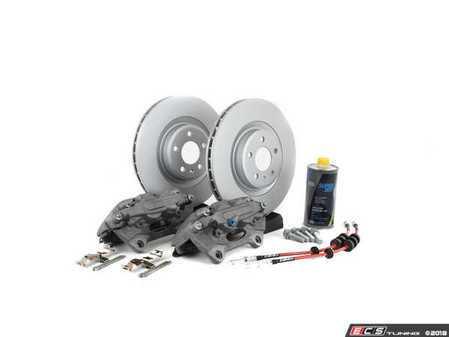 ES#2730474 - 8R0615108EKT2 -     Front Big Brake Kit - Stage 2 - Plain Rotors (345x30) - Upgrade your brake system to the 4-piston Brembo Q5 calipers - ECS - Audi