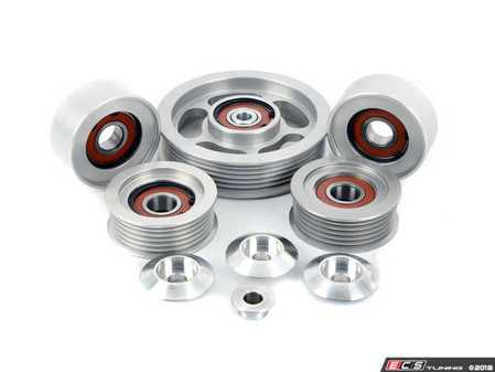 ES#3102937 - M1575PCI - UPD M157 5.5 V8 BiTurbo 5-Piece Idler Pulley Kit - Replace the factory plastic idler pulleys on your performance AMG! - Ultimate Performance And Design  - Mercedes Benz
