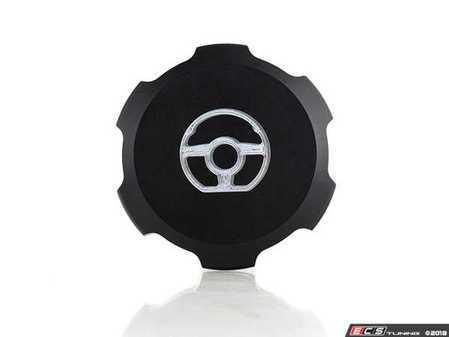 ES#3194628 - 022734ECS01-01 - Billet Power Steering Fluid Reservoir Cap - Black Anodized - Lose the plastic! - ECS - Audi