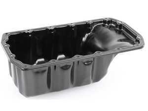 ES#3522602 - 11137550483 - Oil Pan W/ Drain Screw Plug & Washer - Replacement oil pan with drain plug and washer - Vaico - MINI