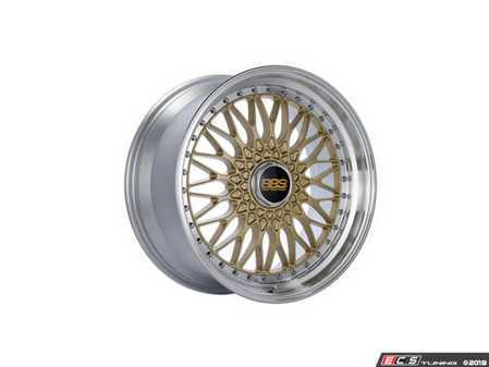 """ES#3514468 - rs541hgpkKT - 19"""" Style RS 541 Wheels - Square Set Of Four - 19x9 5x120 ET20 PSF. Gold Center with a diamond cut lip. - BBS - BMW"""
