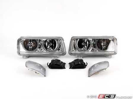 ES#1884479 - FKFSVW9431 - FK Angel Eye Headlight Kit - Chrome - Convert your standard headlights to dual round headlights with angel eyes - FK - Volkswagen