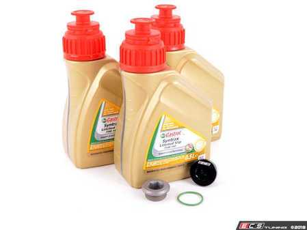 ES#3449386 - 33117525064KT4 - Differential Service Kit - All you need in one package for scheduled differential maintenance! With a ECS Magnetic Differential Oil Drain Plug! - Assembled By ECS - BMW