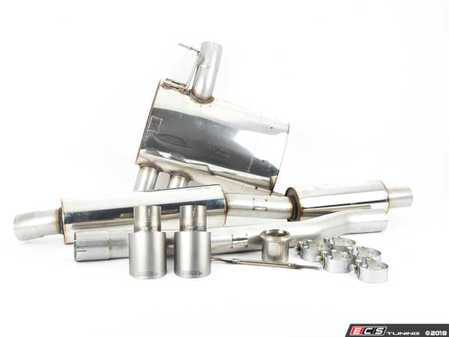 """ES#3477808 - SSXM425 - Cat-Back Exhaust System - Resonated Dual GT90 - 2.75"""" stainless steel with Dual GT90 Titanium Tips - Milltek Sport - MINI"""