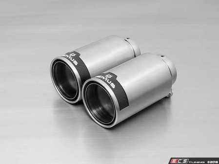 ES#3476674 - 0026-98C - 98mm Straight-Cut Chrome Exhaust Tips - Pair - Features an adjustable spherical clamp connection - Remus -