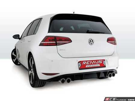 ES#3524662 - 954112CB - Non-Resonated Cat-Back Sport Exhaust System - Quad Tips - Stainless steel system with your choice of quad exhaust tips and rear diffuser - Remus - Volkswagen