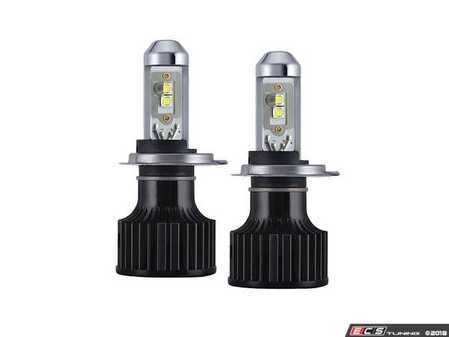 ES#3477232 - 17204 - H4 High-Output 6000K LED Bulb - Pair - Designed with an adjustable LED chip position, these bulbs maximize the factory housing and reflector - PIAA - Audi BMW Volkswagen Mercedes Benz MINI Porsche