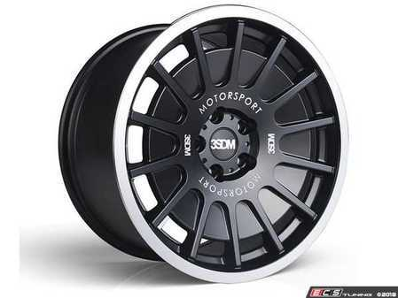"ES#3525743 - 5060530681495KT - 18"" Style 0.66 Wheels - Set Of Four - 18x8.5 ET42 5x112 - Satin Black / Polished Lip - 3SDM - Audi MINI"