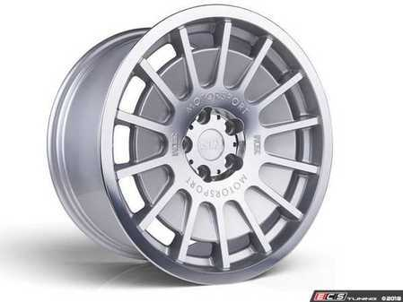 "ES#3525750 - 5060530681525KT1 - 18"" Style 0.66 Wheels - Set Of Four - 18x9.5 ET40 5x112 - Satin Silver / Polished Lip - 3SDM - Audi Volkswagen"