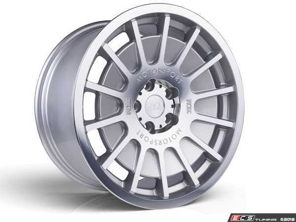 "ES#3525749 - 5060530681525KT - 18"" Style 0.66 Wheels - Set Of Four - 18x9.5 ET40 5x112 - Satin Silver / Polished Lip - 3SDM - Audi"