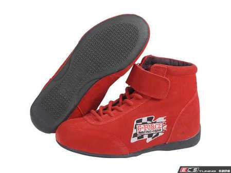 ES#3536397 - GF235RD -  GF235 Midtop Boot - Red - Maximize your foot's contact patch with the proper driving shoes. - G-Force - Audi BMW Volkswagen Mercedes Benz MINI Porsche