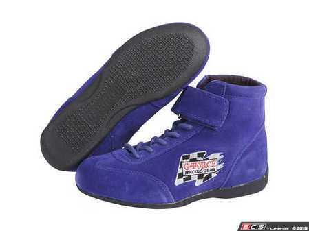 ES#3536398 - GF235BU -  GF235 Midtop Boot - Blue - Maximize your foot's contact patch with the proper driving shoes. - G-Force - Audi BMW Volkswagen Mercedes Benz MINI Porsche