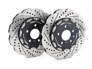 ES#3520785 - 023950ecs01KT - Rear 2-Piece Wave Brake Rotors - Pair (330x22) - Direct bolt-on upgrade to Tru-Float wave style rotors. 20% less weight! - ECS - Audi