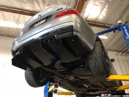 ES#3536665 - D-01-06M3-V2 - E46 Rear Diffuser V2 - Featuring even more aggressive fins than the V1 Diffuser - Aeroflow Dynamics - BMW