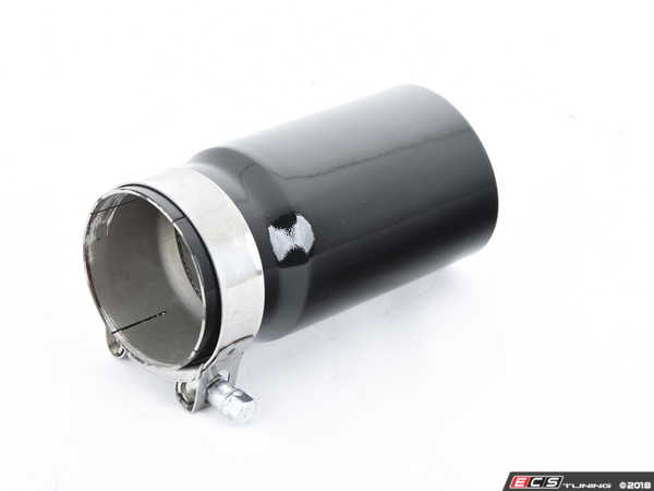 "ES#3508473 - EX-91-52CGB - 3.0"" Clamp On Exhaust Tip - Gloss Black - Stainless Steel exhaust tip featuring clamp on attachment. 2.5"" Inlet / 3"" Double Wall, Slant Cut Outlet - 42 Draft Designs - Audi BMW Volkswagen"