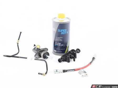 ES#3508270 - 21526758820KT - Clutch Cylinder Refresh Kit - Includes master and slave cylinder, hardware and lines including the ECS Exact-Fit Stainless Steel Clutch Line! - Assembled By ECS - BMW