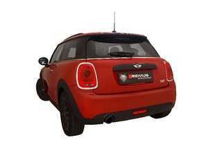 ES#3520162 - 754014 0500KT1 - Remus Axle-Back Sport Exhaust System - With 102mm Carbon Angled/Titanium Internals Tip - Remus Axle-back system - Pure power and perfect sound! - Remus - MINI