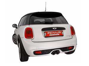 ES#3521889 - 755214 097KT4 - Remus Axle-Back Valvetronic Sport Exhaust System - With 102mm Angled/ Straight Cut Chrome Tips - Remus Axle-back system - Pure power and perfect sound! - Remus - MINI