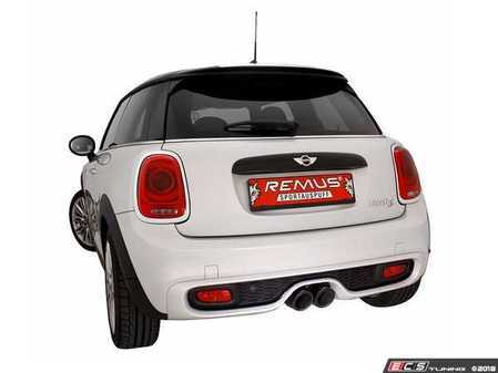 ES#3521806 - 755214 097KT1 - Remus Axle-Back Valvetronic Sport Exhaust System - With 98mm Street Race black Chrome Tips - Remus Axle-back system - Pure power and perfect sound! - Remus - MINI
