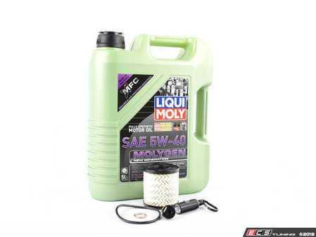 ES#3447568 - 114276224468KT - Molygen Oil Service Kit - Includes Purflux oil filter and Liqui Moly 5w-40 oil with Molygen technology - Assembled By ECS - MINI