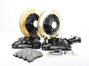 ES#3118602 - 83.164.6700.53 - StopTech front 6 piston big brake kit (355x32mm) - Comes with 6 piston silver calipers, 2 piece zinc coated slotted rotors and stainless steel brake lines. - Includes brackets and mounting bolts - StopTech - BMW