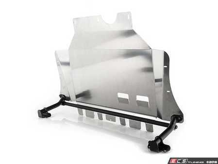 ES#3553113 - 019077ECS03KT -  ECS Tuning Aluminum Street Shield Skid Plate - With Reinforcement Kit - The best underbody protection package to keep your vitals safe - ECS - Volkswagen