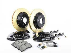 ES#3118326 - 83.154.004G.53 - StopTech rear 4 piston big brake kit (345x28mm) - Comes with 4 piston black calipers, 2 piece zinc coated slotted rotors and stainless steel brake lines. - Includes brackets and mounting bolts - StopTech - BMW