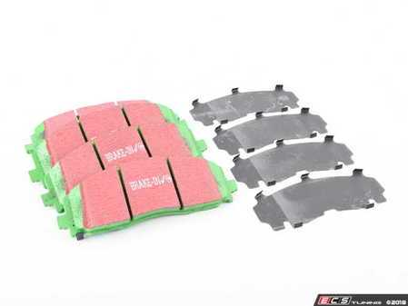 ES#2620563 - DP61888 - Front GreenStuff Performance Brake Pad Set - Mildly upgraded composite pad, great for and afternoon of sport driving. - EBC - Volkswagen