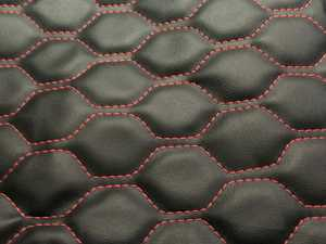 ES#3545256 - MK4GLFNBLKHC - OE Style Leather Hood Bra - Black With Honeycomb Stitching - Choose your stitching color! - AutoBrahn - Volkswagen