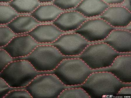 ES#3545548 - MK6GLFNBLKHC - OE Style Leather Hood Bra - Black With Honeycomb Stitching - Choose your stitching color! - AutoBrahn - Volkswagen