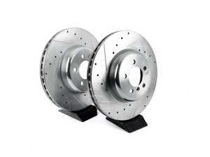 ES#3477513 - EBR1438XPR - Evolution Tru-Cast Drilled And Slotted Rotor Pair - Front (370x30) - Performance rotors built to cool quickly and prevent corrosion for years of rough us and abuse. - Power Stop - BMW