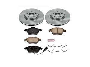 ES#3158638 - KOE2259 - Autospecialty Daily Driver Brake Service Kit - Front (312x25) - Stock replacement brake kit with hardware, featuring OE replacement brake rotors and high performance Evolution ceramic pads - Power Stop - Volkswagen
