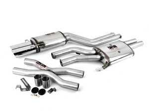 ES#3191575 - 761803ktKT - Performance Cat-Back Exhaust System - 100% handcrafted in Italy. Stainless cat-back system with dual round tips - Supersprint - Audi