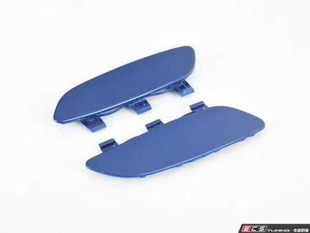 ES#3023361 - BM-0995-LMB - Painted Front Bumper Reflectors - Le Mans Blue - Clean up your M3's front bumper with paint matched reflectors - AUTOTECKNIC - BMW