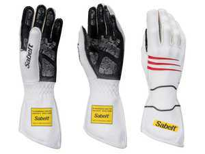 ES#3538368 - SATG9W - Hero Racing Gloves - White - An extremely comfortable glove that gives you confidence and piece of mind out on the track. - Sabelt - BMW
