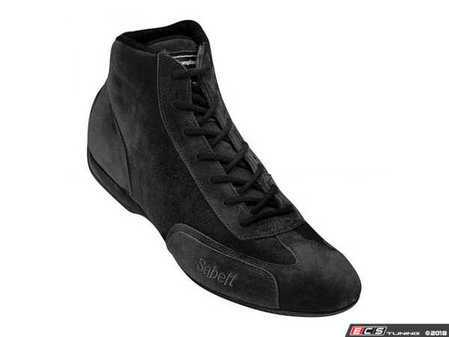 ES#3538286 - SARS402B - RS 402 Racing Shoe - Black - All suede construction with a timeless design. - Sabelt - BMW