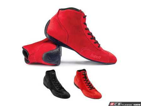 ES#3537671 - SARS402R - RS 402 Racing Shoe - Red - All suede construction with a timeless design. - Sabelt - BMW
