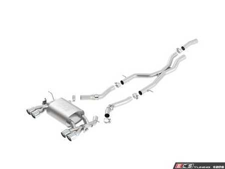 ES#3537499 - 140731 - Borla ATAK Catback Exhaust System - Acoustially Tuned Applied Kinetics (ATAK) provides an aggressive exhaust note without drone or distortion - Borla - BMW