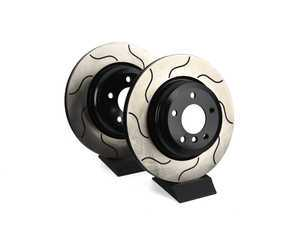 ES#3462927 - sr134.1b21KT - Rear Sparta GP-1 Slotted Rotor - Pair (336x22) - Coated rotors with Sparta brakes signature S groove for smooth actuation and uniform pad contact. - Sparta Evolution - BMW